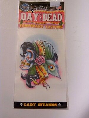 Day Of The Dead Lady Gitanos Temporary Tattoo Costume Accessory Halloween ](Tattoo Lady Halloween Costumes)