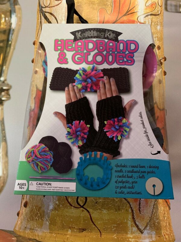 🔥 2 🔥 Headband & Gloves Knitting Kits: Make Your Own Winter Gloves, Yarn Craft