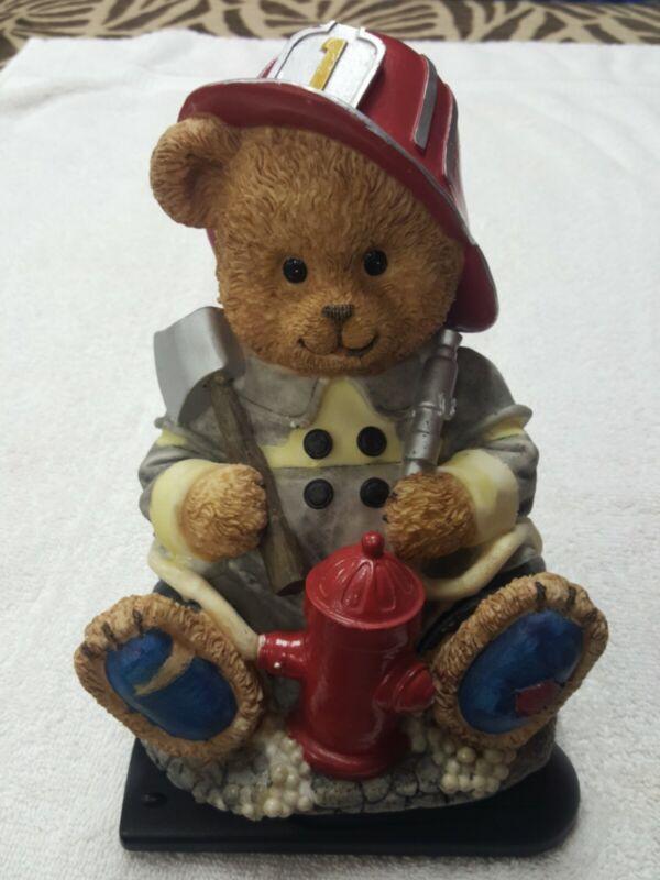 Teddy Bear Piggy Bank - Firefighter Bear Piggy Bank