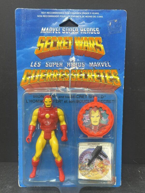 VTG 1984 Iron Man Marvel Super Heroes Secret Wars w/shield