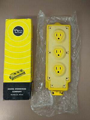 New Daniel Woodhead 31593 Multi Tap 3 Outlet Box 15 Amp 125 Volt