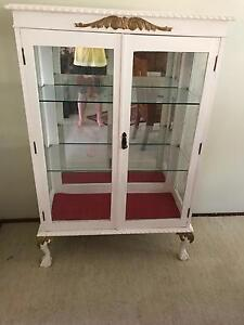 White pine glass cabinet Middle Park Brisbane South West Preview