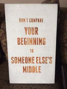Indoor home decor sign