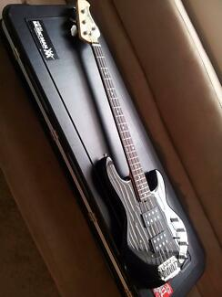 Musicman HH Stingray four string bass guitar. Black.