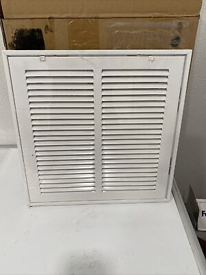 Venti Air 12 in. x 12 in. Square Return Air Filter Grille of Steel in White