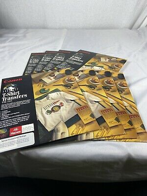 Lot Of 8 Packs 80 Sheets Total Cannon Tshirt Transfers Tr101 Print Your Own