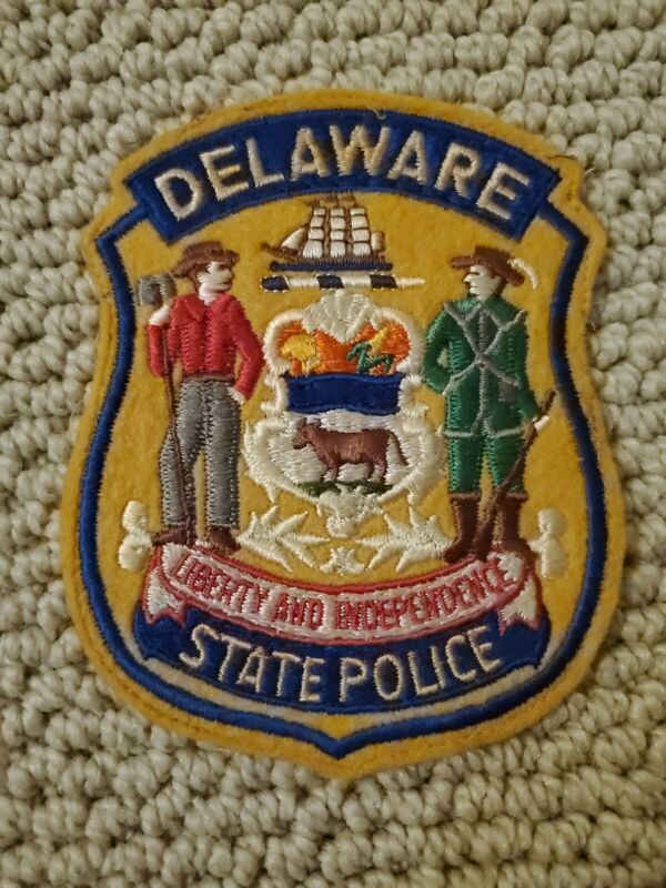 Delaware State Police Patch - Felt Cheesecloth Backing