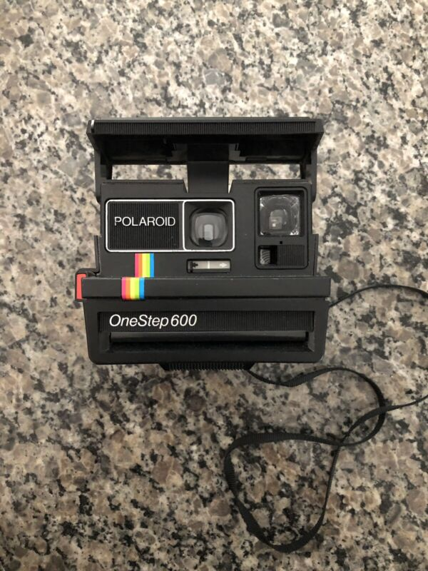 Vintage Polaroid One Step Close-Up Instant Land Camera w/ Flash Uses 600 Film