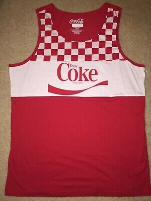 COKE Coca-Coca can Bottle logo POP Beach MEN'S New SLEEVELESS Tank Top T-SHIRT