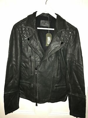 All Saints *CARGO* LEATHER BIKER JACKET RRP £298 BRAND NEW WITH TAGS