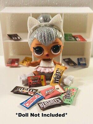 Custom Chocolate - 7 PC LOL SURPRISE CUSTOM FOOD ACCESSORIES Chocolate Bars Movie Candy Sweets