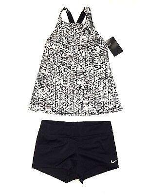 NWT Nike Women's Tankini Athletic Two-Piece Swimsuit   Size (Athletic Two Piece Swimsuits)