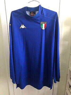 Vintage Kappa Italy World Cup 2002 Long Sleeve Soccer Jersey Xl Maglia Italia