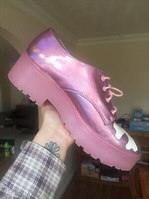 Iron Fist Pink Holographic Creepers (UK Size 7)