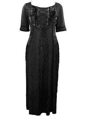 Ladies Long Corset Dress PLUS SIZE 18 20 22 24 26 Black Beige Short Sleeves NEW