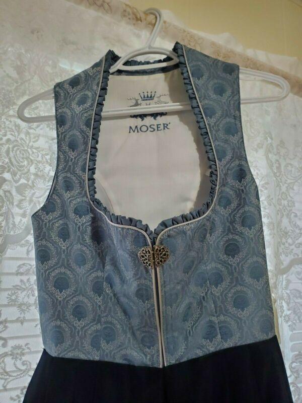 Moser Dirndl dress, Mid-length , Blue, Skirt included
