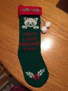 Cat Christmas Stocking  - Cats Love Christmas Too !