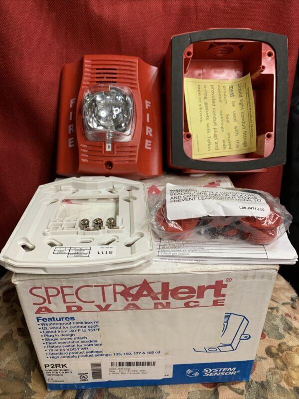 SpectrAlert Advance P2RK Horn/Strobe SPECTR ALERT NEW RED @M