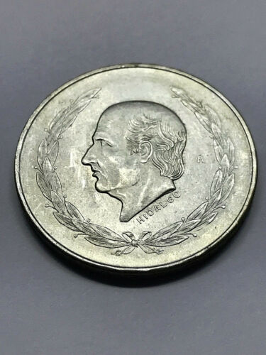 1954 Mexico Silver 5 Pesos Key Rare Date CH BU #12495