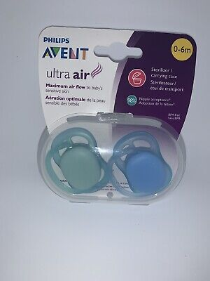 Philips Avent Ultra Air Pacifier, 0-6 months, Blue- 2 pack
