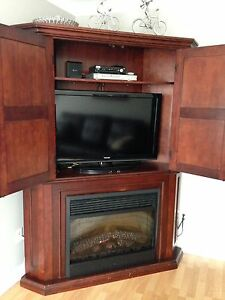 "40"" Toshiba TV w solid wood cabinet"
