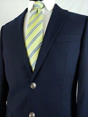 Joseph Abboud Mens Navy Blue Wool Sport Coat Blazer 2 Silver Button Jacket 38R