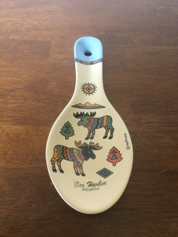 Bar Harbor Maine spoon rest souvigner agiftcorp. Moose