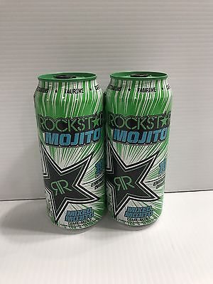 Rockstar Energy Drink Mojito Mix 16oz Cans. Total 2 Cans Lot - Drink Mojito