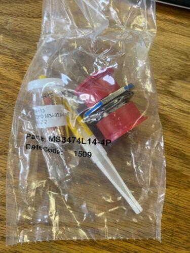 NEW Aero Electric MS3474L14-4P CONNECTOR MS3474L144P MS3474L14-4P Male Pins