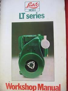 LISTER LT SERIES DIESEL ENGINES WORKSHOP SERVICE MANUAL c1979 Dianella Stirling Area Preview