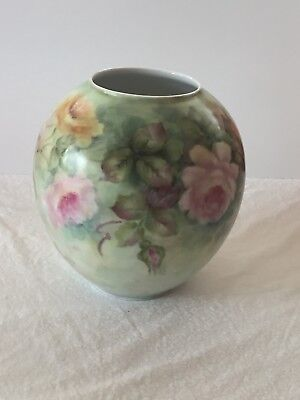 Rare Selb BAVARIA Germany HANDPAINTED VASE