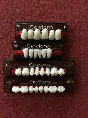 Full Set Of 28 Dental Ceraform Porcelain Teeth For Dentures