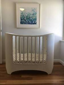 Leander Baby Cot to Junior Bed (White) Stirling Stirling Area Preview