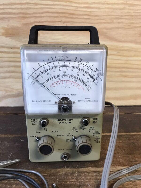 Vintage Heathkit IM-18 Vacuum Tube Volt Meter (VTVM)