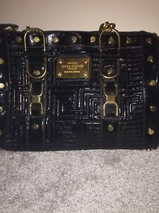 Authentic Black Gianni Versace couture bag