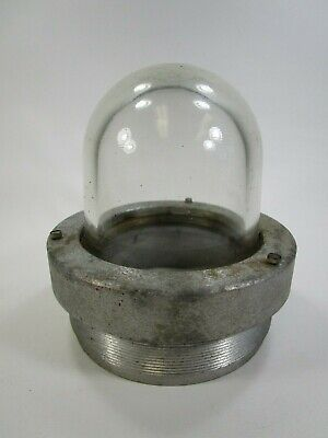 Vintage Pyrex Explosion Proof Light Fixture Bulb Cover Appleton Light Fixture