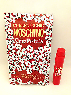 Cheap and Chic Petals MOSCHINO PERFUME 1ml EDT Spray TRAVEL SAMPLE VIAL