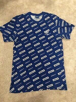 Blue Adidas Retro Tshirt Size M