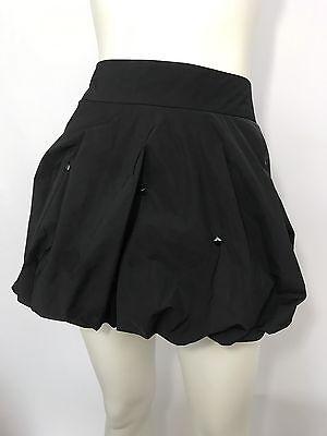 BEBE Womens Black Studded Bubble Hem Mini Skirt Size S