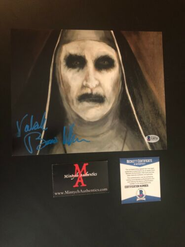 BONNIE AARONS THE NUN AUTO SIGNED 8x10 PHOTO! VALAK! THE CONJURING! BECKETT COA