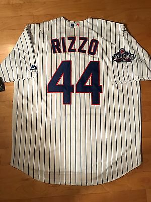 Anthony Rizzo  44 Chicago Cubs World Series Cool Base Jersey Mens Size Large