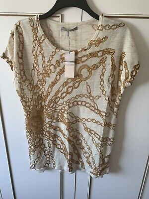 Ladies BNWT Marks And Spencer Versace Chain Style Top Size 12