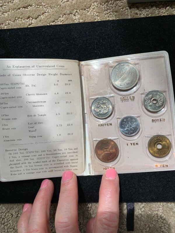 1970 Japan Mint Set 6 Coin Set