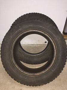 Two used 195/65R15 91T Wanli winter tires