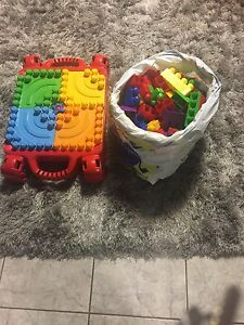 Lego Table and blocks and Racing Track