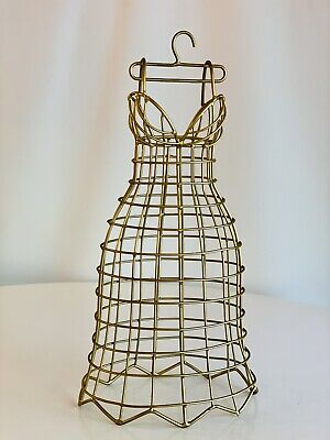 Decorative Table Top Gold Metal Mannequin Miniature Dress Form Jewelry Display
