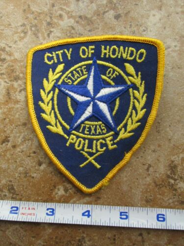 OBSOLETE Vintage State of Texas City of Hondo Police Department Dark Blue Patch