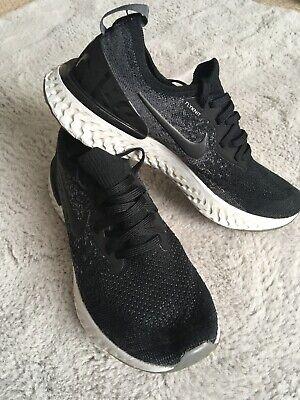 Nike Epic React Flyknit Size 5.5/ 38.5 Black