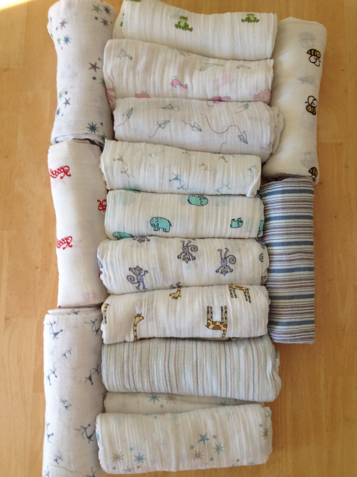 NEW ADEN and ANAIS Muslin Cotton Boutique Swaddle Blanket 47