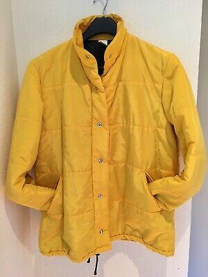 Rare Vintage Gianni Versace 90s Yellow Ski Coat-Jacket Designer Sport Italy Chic